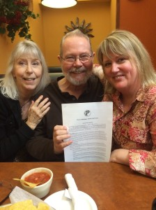 """Kimberly and Duke Pennell of Pen-L Publishing offered me a contract for three upcoming novels. My response, """"Where's my pen? Then, a big THANK YOU!"""""""